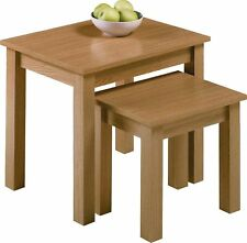 HOME Nest of 2 Tables - Oak Effect.