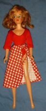 Vintage 1965 Ideal Glamour Misty Doll Miss Clairol Red White Skirt Top Clothes