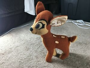 1960s Bambi Plush Walt Disney Characters California Stuffed Toys Deer Old VTG