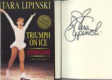 TARA LIPINSKI SIGNED BOOK TRIUMPH ON ICE FIGURE SKATING 1998 OLYMPIC GOLD MEDAL