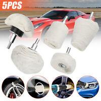 5pcs Buffing Polishing Pads Wool Wheel Mop Kit Set For Car Buffer Pad Polisher