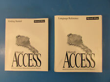 Lot of 2 - Microsoft Office/Access Getting Started Manual & Language Reference