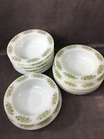 Anchor Hocking PlaceSetters - Green SpringWood Collection - 13pc Plates & Bowls