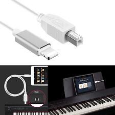 Lightning to Type-B MIDI Keyboard Converter USB 2.0 Cable for iPhone iPad X iPad