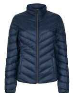 Ex Marks and Spencer Navy Lightweight Down & Feather Jacket Coat Size 8 - 24
