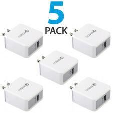 5x USB Wall Charger Fast Charge 3.0 For iPhone 8 X XS Samsung Galaxy S10+ S9+ LG