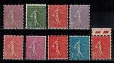 (a19) timbres France n° 197/205 neufs** année 1924