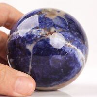361g 65mm Natural Blue Sodalite Crystal Sphere Healing Ball Chakra Decor