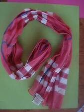 AUTHENTIC BURBERRY CRINKLE SCARF GERANIUM SPRING SCARF NEW