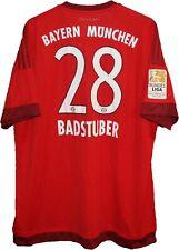 NEW!! 2015 #28 BADSTUBER Bayern Munchen FC Football SHIRT Jersey ADIDAS size 2XL