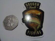 "Fishing Box,Phone,Laptop or Car Vinyl Sticker "" Oregon Trout Fishing """