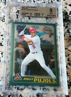 ALBERT PUJOLS 2001 Topps Chrome Rookie Card RC BGS 9 9.5 $ 2 WS Rings $ 633 HRs