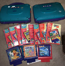 Two/2 Sega Pico Console Systems with Cords + 12 Games!