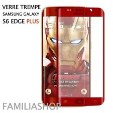 Tempered Glass Film Red Integral Total Curved Samsung Galaxy S6 Edge Plus