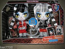 MONSTER HIGH DOLLS WERECAT SISTERS PACK MEOWLODY PURRSEPHONE RAG DOLLS