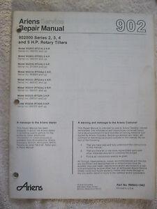 ARIENS 902000 SERIES 2, 3, 4, & 5 HP ROTARY GARDEN TILLER SERVICE REPAIR MANUAL