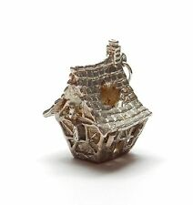 Rare Vintage 925 Sterling Silver HAUNTED GHOST HOUSE Charm Pendant 6g