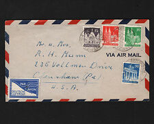 OPC 1949 Germany Reilingen Bizone to USA Luftpost Air Letter FZ1