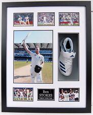 More details for ben stokes signed and framed cricket boot / shoe - superb & rare