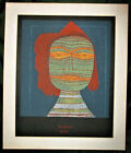 """VINTAGE PAUL KLEE PRINT 'THE ACTORS MASK' Litho Matted 20"""" x 24"""""""