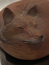 RICK CAIN ENCOMPASS ART CARVING SCULPTURE LIMITED EDITION 770/15000 RED FOX