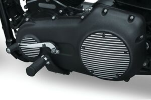 Kuryakyn 9749 Finned Derby Covers For Twin Cam & Milwaukee-Eight® Black