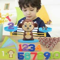 Monkey Math Game Fun Learning, Educational Balance Toy Children Gift H2H0