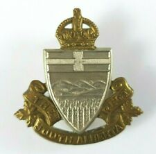 WW2 The South Alberta Regiment Cap Badge - Canadian Scully Ltd Montreal - KC