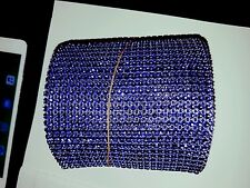 24 Row purple blue Diamonte Crystal Effect Rhinestone Cake Decoration  Mesh