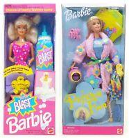 Mattel Bath Blast Barbie And Pajama Fun Barbie Lot Of Dolls  2 NRFB