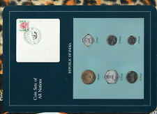 Coin Sets of All Nations India 1989-1991 UNC 1 Rupee 1991 26.5.97 scarce