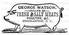 PARIS CERAMICS OLD DECAL DIY SHABBY CHIC IMAGE TRANSFER VINTAGE LABEL PIG MEAT