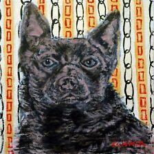 Australian Kelpie, dog art, tile, dog over, dog coaster, ceramic dog gift