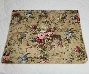 Ralph Lauren Adriana Floral Standard Pillow SHAM Cotton EUC