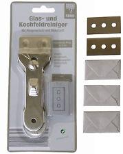 Glasschaber + 10 Ersatzklingen Ceranfeldschaber Kochfeldschaber 10 Klingen gb