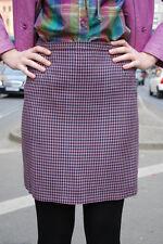 Damen Rock skirt Pepita rosa schwarz türkis 80er Hahnentritt 80´s Sekretärin