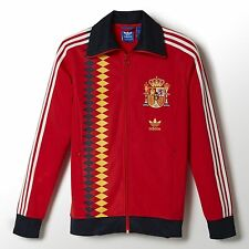SMALL  adidas Originals Men's Classic  SPAIN TRACK TOP  Team Jacket  RED 1 AVAIL