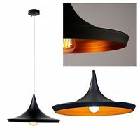 Black Wide Style Ceiling Pendant Light Lamp Shade Wide shape Tom Vintage  design