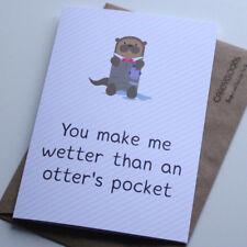 Funny Birthday Card, Husband, Boyfriend, Husband, Rude, Otter
