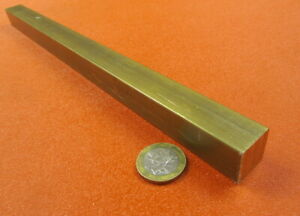 """360 Brass Square Bar 3/4"""" Thick x 3/4"""" Wide x 12.0"""" Length"""