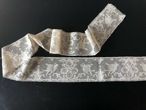 ANTIQUE LACE - POINT DE FRANCE LACE WITH BIRD DESIGNS