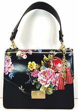 ❤️BRAHMIN OPHELIA SATCHEL BLACK VERSAILLES FLOWER FLORAL TOP HANDLE ~ BRINLEY ❤️