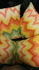 Beautiful Small Multi Colored (orange,yellow, red and green.) Handmade pillows.