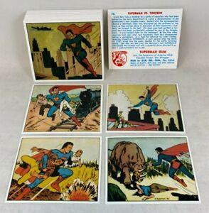SUPERMAN GUM OFFICIAL 1984 REPRINT CARD SET Features all 72 Original 1941 Images