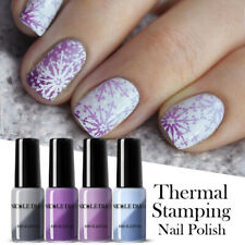 NICOLE DIARY 6ml Thermal Stamping Polish Puple Blue for Nail Art Stamping Plates