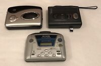 Lot of 3 SONY AIWA DURABRAND WALKMAN for Parts / Repair - Sold As Is