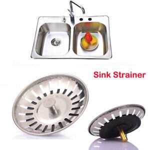 Kitchen Waste Stainless Steel Sink Strainer Plug Drain Filter Basket Drainer