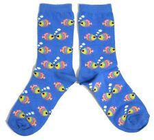 Mesdames Aquatics Kissing Poisson Marin Tropical chaussettes bleu d'été