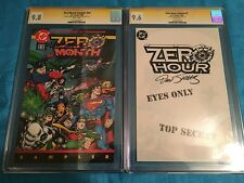 Zero Hour Ashcan, Sampler  - DC - CGC SS 9.6 9.8 - Signed by Jurgens/Ordway