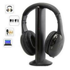 5-In-1 Hi-Fi Wireless Headphones Earphone Headset For PC Laptop TV FM Radio MP3